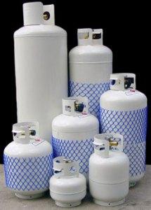 Various propane tank sizes