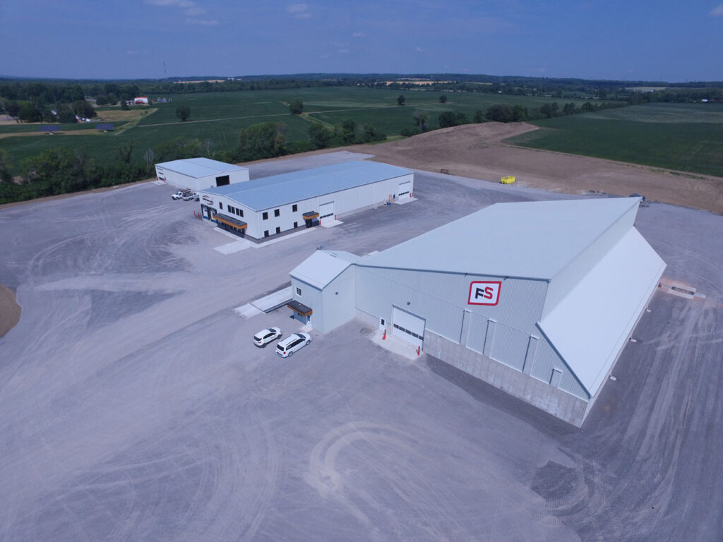 Aerial photo of Belleville facility